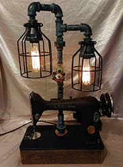 Sewing machine lamp.