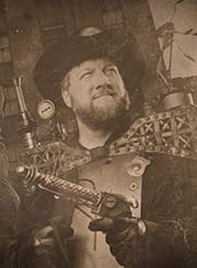 Brett King as Steampunk Gunslinger