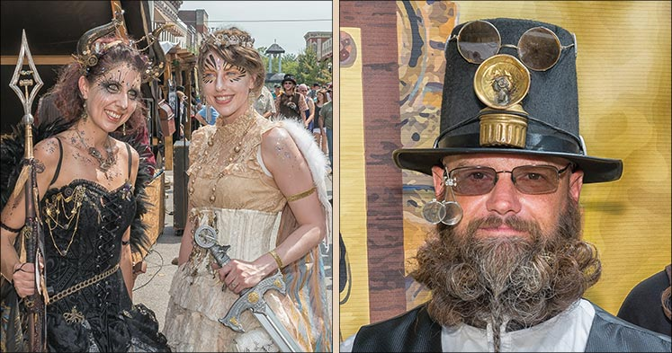 Big River Steampunk Festival people