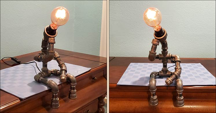 The Thinker lamp