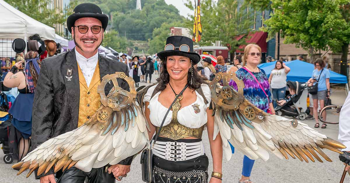 Steampunk Pete and Tracie Nair