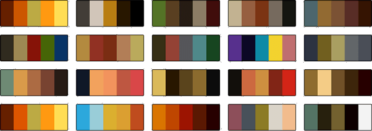 Adobe Steampunk Color themes