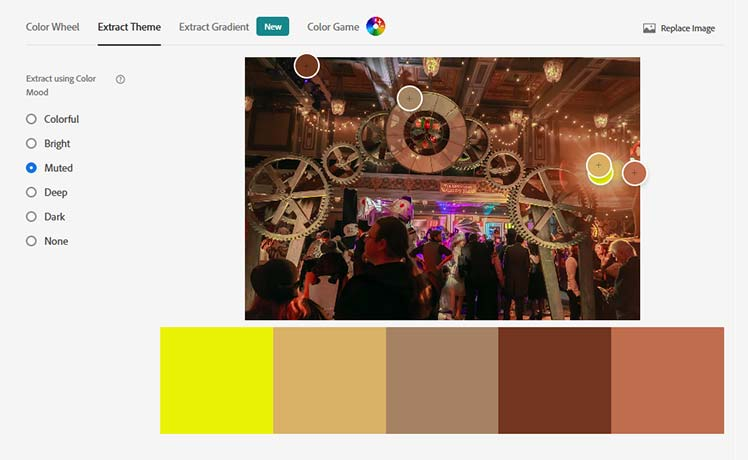 Adobe extract color theme