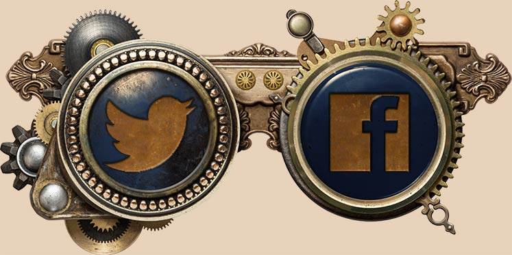 Steampunk Facebook and Twitter