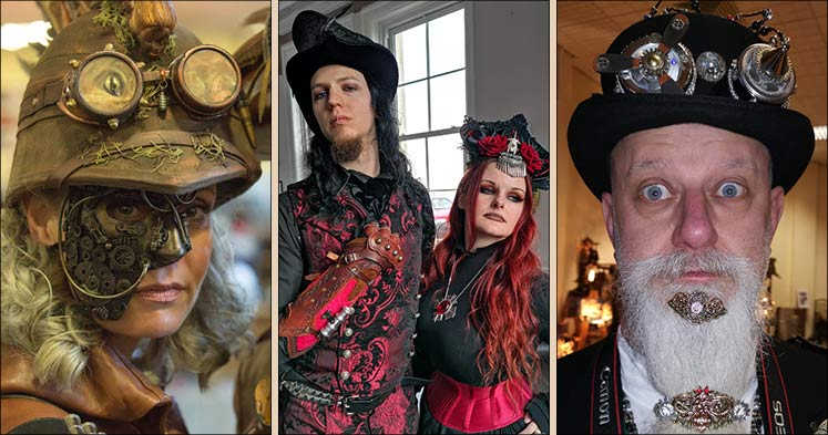 Whitby Steampunk Weekend costumes