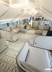 Airship cabin lounge concept