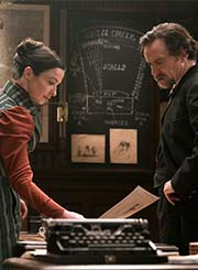 Laura Donnelly and Ben Chaplin in The Nevers