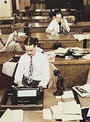 Old Time Newsroom