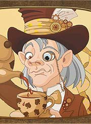 Steampunk tea drinker