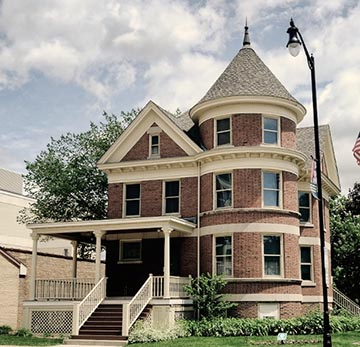 The Kinder House (1907) at the Des Plaines History Center
